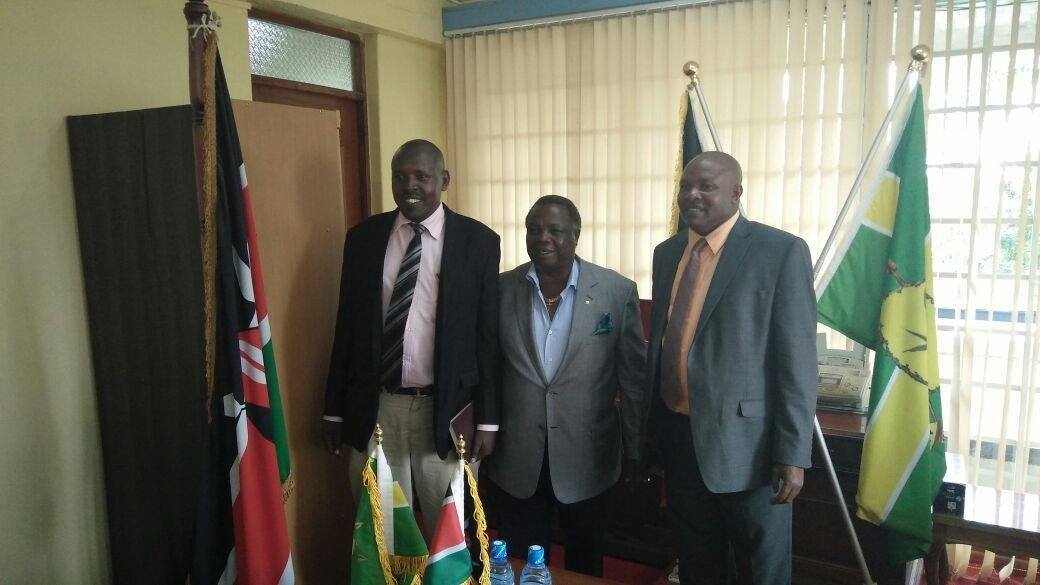 Bro. Francis Atwoli with the Kericho Governor in his office in Kericho town