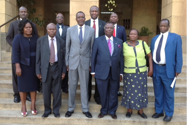 The Central Organisation of Trade Unions (COTU-K) Secretary General Bro. Francis Atwoli paid a courtesy call to the Chief Justice and President of the Supreme Court of Kenya at the Supreme Court Building