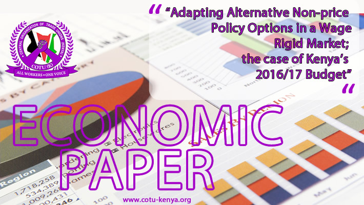 Economic paper Adapting Alternative Non price Policy Options in a Wage Rigid Market the case of Kenyas 2016-17 Budget