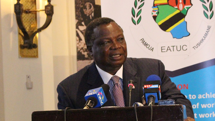 Atwoli Chairman EATUC Opens Regional Workshop