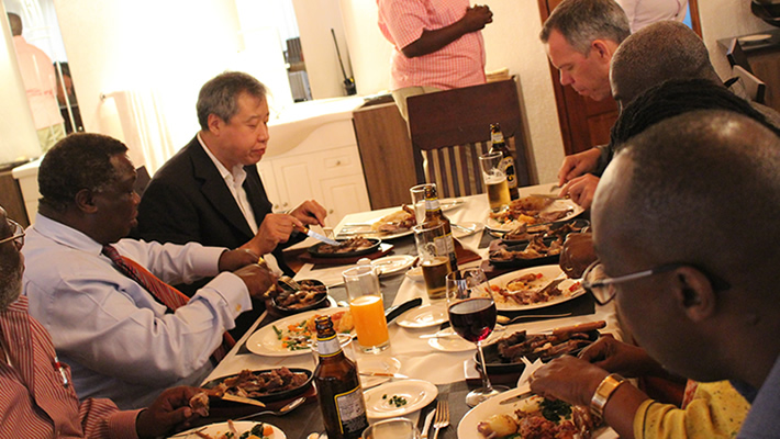 Bro. Atwoli Hosts EATUC SUMMIT Delegates to a Lavish Dinner at His Ildamat Home