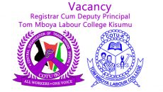 vacancy registrar cum deputy principal tom mboya labour college – kisumu