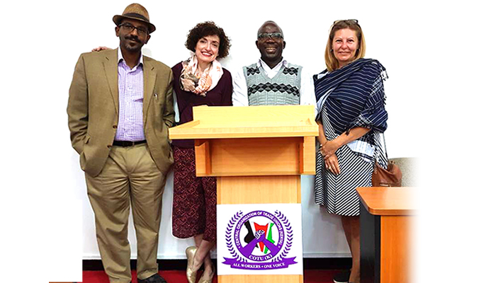 Delegation from the American Centre for International Labour Solidarity, ACILS