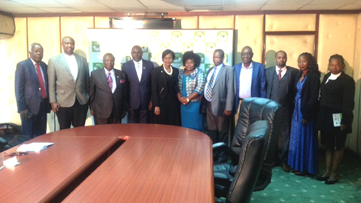 COTU-K Top Officials paiy a courtesy call on the Chairman Commissioners of IEBC
